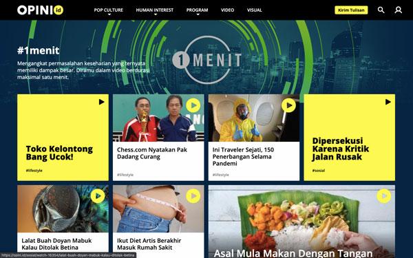 Program 1 menit di Opini.id